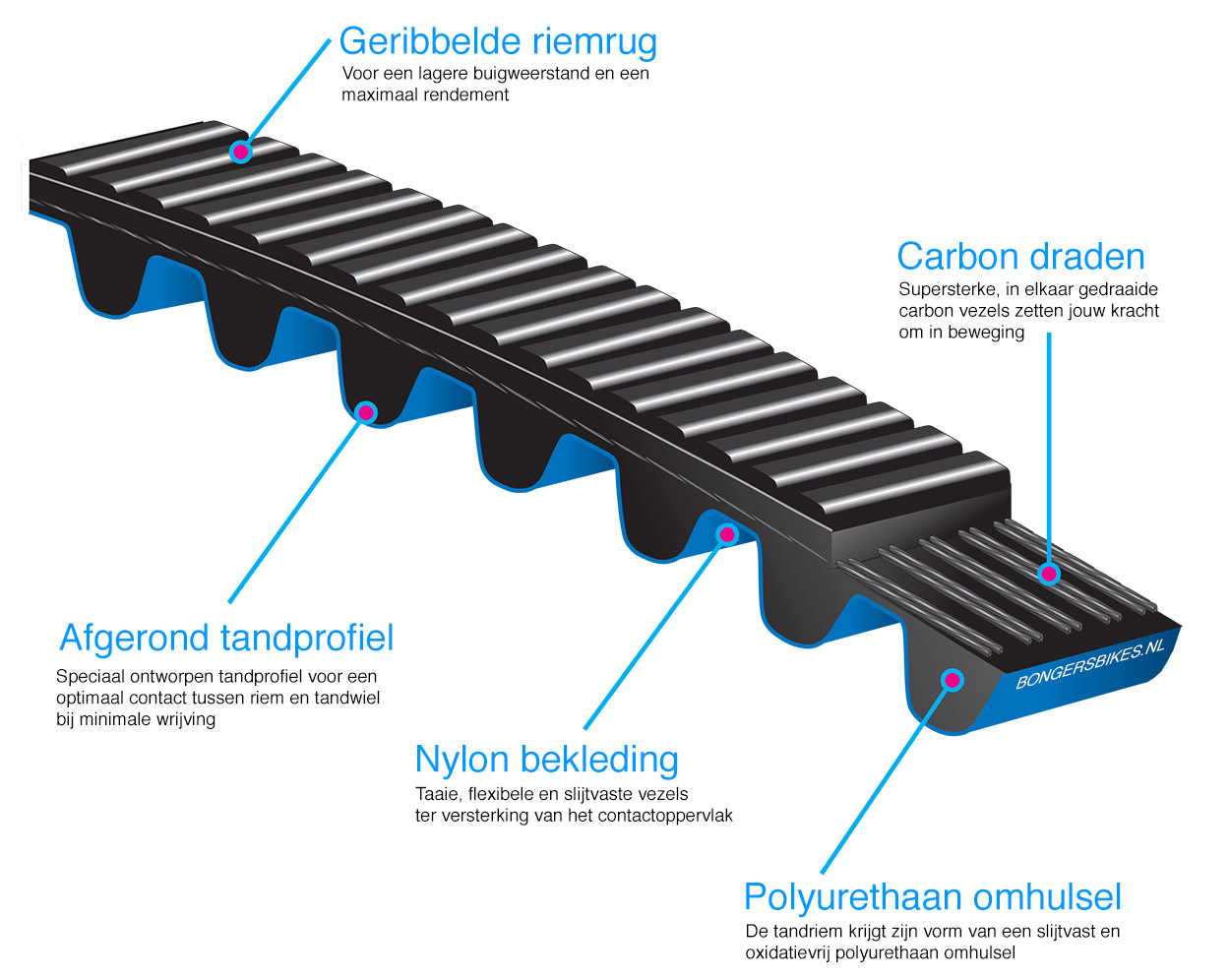 Gates tandriem constructie