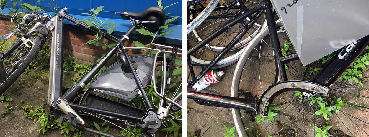 Afgedankte E-bike
