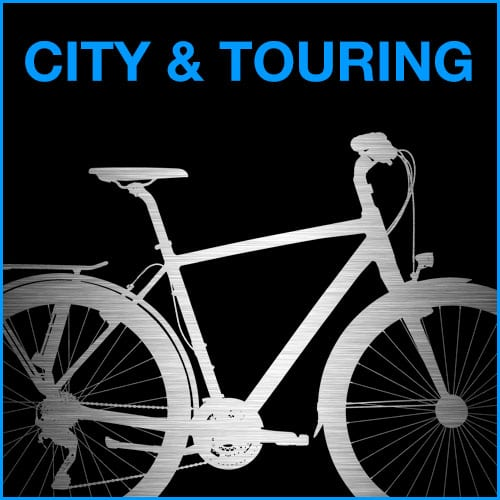 Stadsfietsen en toerfietsen